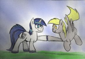 Dynamic Duo Brohoof by timsplosion