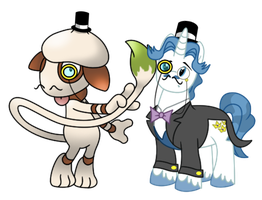 Fancy Pants And Smeargle Go British Day 32 by DrLonePony