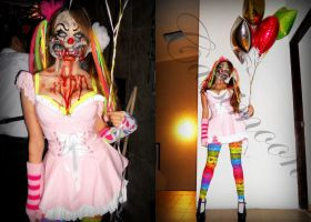Crazy Moon: My creation of a clown. 2012 by Cazzimoon