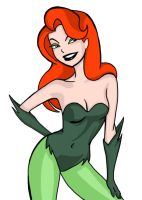Poison Ivy inked and coloured by EvilTank