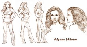 Allyssa Milano Model Sheet by Tarzman