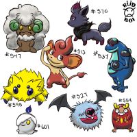 Isshu Pokemon Doodles by natas-666