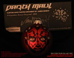 Darth Maul - Custom SW Sig Series Xmas Ornament by JsunDmint