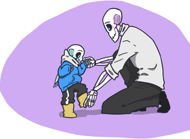 Blue Skeleson by QueensDaughters