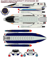 Class F shuttlecraft Ronald  Reagan  starbase 20 by bagera3005