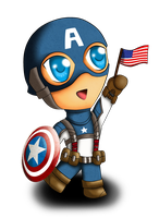 Chibi Captain America by Magy-san