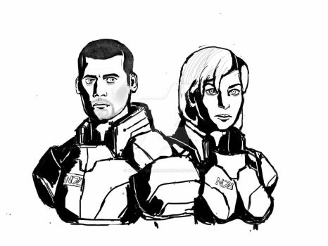 Commander Shepards WIP by Silent-Valiance