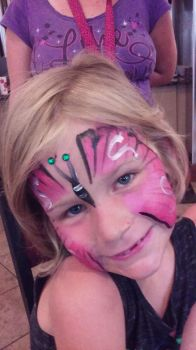butterfly face painting by funfacesballoon