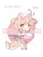 [CLOSED] Auction Valyrabbits Collab ARIA #27 by whitepaperrabbits