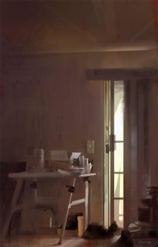 Lazy Sunday Painting by GWhitehall