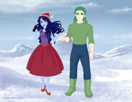 Quills and Fluffy - humanized by scanna