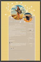 Blogspot template Feel freedom by MySensitiveHeart