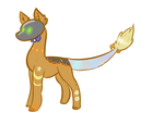 [CLOSED] Starry Streampunk E-Dog Auction by TheRaptorAlpha