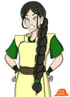 Toph With Katara's Hair by PerryWhite