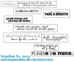 Jonas Brothers Lyric Brushes by soinseparable