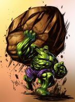 Hulk Toss by Johnathan Rector - Colors by TrinityMathews