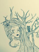 Girl tree by MorticiaVamp