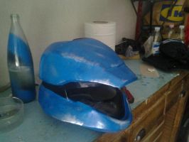 Halo 3 blue scout helmet by shedg