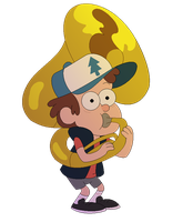Gravity Falls - Dipper playing the tuba (Pagedoll) by Legend-Mystery