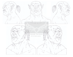 Orc Face Study - Aeon Games by Assurancetourix