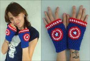 Captain America Handwarmers by RebelATS