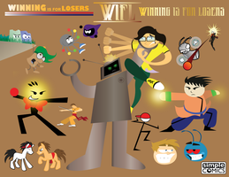 DigiDoodles 25 - WIFL Battle Art by simpleCOMICS