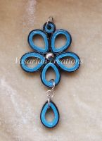 Flower quilling pendant by OmbryB
