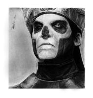 papa emeritus III / comisission charcoal by reniervivas666