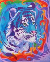 Fun With Colors - Blue Tiger by WindSong83