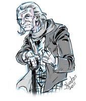 Sketching the First Doctor on my Tablet PC by ElfSong-Mat