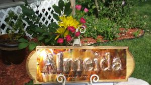 Wedding or Anniversary Copper sign Custom by artistiquejewelry