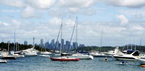 Sydney from Watson's Bay by CouchyCreature