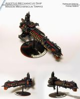 Adeptus Mechanicus Gothic Fleet Battleship by Olovni