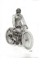 Old Harley Racer by eugene23