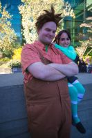 Wreck it Ralph: Ralph and Vanellope by VandorWolf