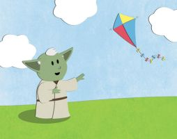 Yoda Force Kite by NixonGraphix