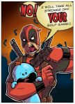Deadpool Vs Meeseeks by mikegoesgeek
