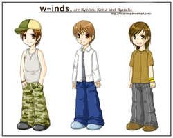 W-inds. Chibis by focaccina
