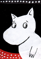 ACEO: Moomintroll by valurauta