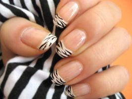 Zebra Nail Polish 5 by xzibitka