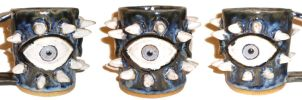 Eye Cup #22 With Spikes by aberrantceramics