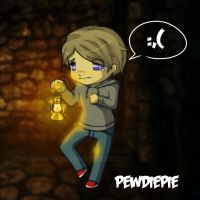 Why so scared, PewDiePie? by MissBloodyEyes