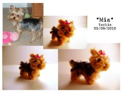 Pipe Cleaner Yorkie by fuzzington