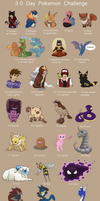 30 Day Pokemon Challenge by Kindii