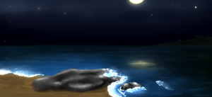 Sea by night (updated) by CreepyCheeseCookie