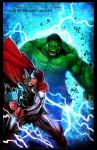 Hulk VS Thor by ChekydotStudio