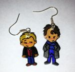 Sherlock Bromance earrings by Lovelyruthie