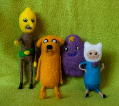 Felted Adventure Time fanart by Yubodoc