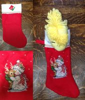 Snowman Stocking by elphaba-rose-wilde