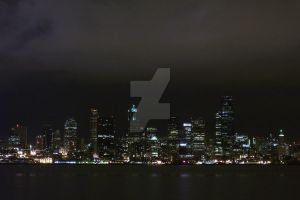 Downtown Seattle at Nite by Poetic-Dragon